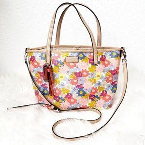 Coach Metro Floral Tote Crossbody Shoulder Bag